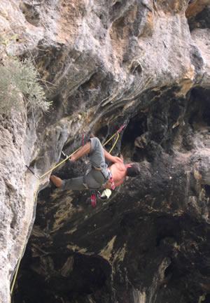 Rock climber ...