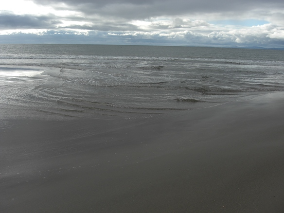 The contours of a beach