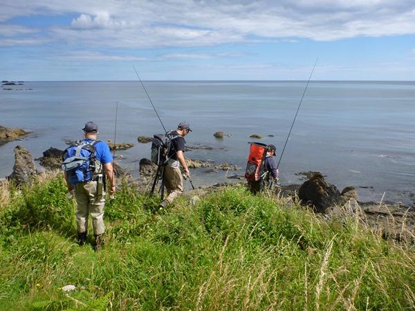 Anglers using overboard rucksacks