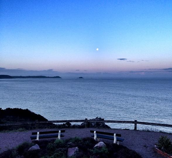 A calm spring morning on the coast