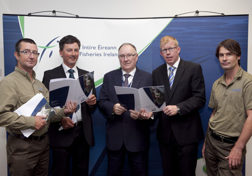 Members of the Bass Policy Group Micheal Hennessey, John Quinlan and Shane O'Reilly with Brendan O'Mahony and Dr Ciarn Byrne