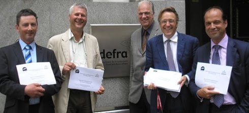Nigel Horsman (2nd Left) and other BASS and AT personel at a past meeting with DEFRA