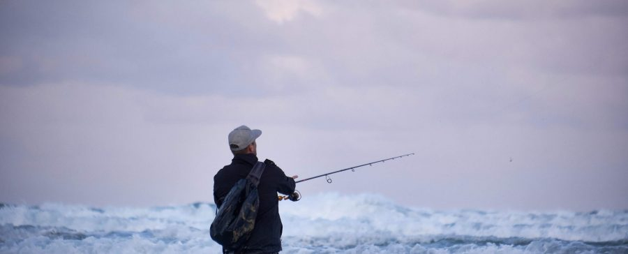 Surf Angling For Bass In Cornwall